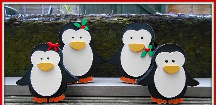 Family of 4 Penguins / Snowmen / Robins  £22 Names can be added   Can be bought separately  ...